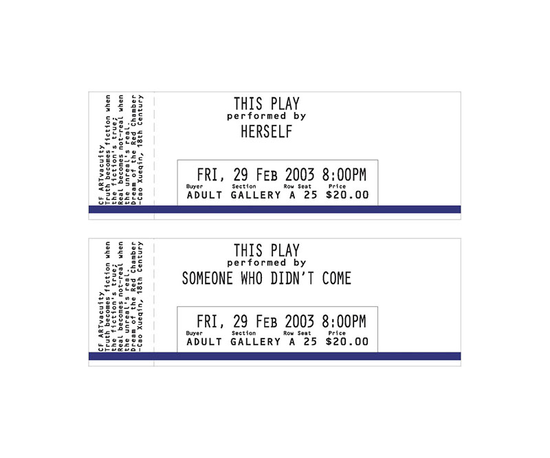 Tickets to a play